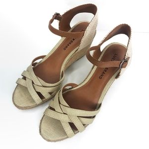 Lucky Brand Kalessie Espadrille Wedge Sandal 8.5